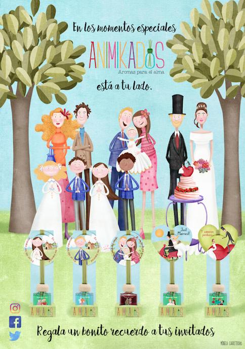 Poster Animikados eventos Regalos con personalidad